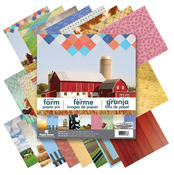 "Farm - Paper House Double-Sided Paper Pad 12""X12"" 24/Pkg"