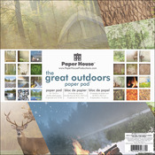 """Great Outdoors - Paper House Double-Sided Paper Pad 12""""X12"""" 24/Pkg"""