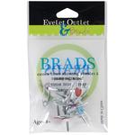 Safety Pins - Eyelet Outlet Shape Brads 12/Pkg