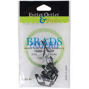 Music Notes - Eyelet Outlet Shape Brads 12/Pkg