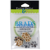Paws - Eyelet Outlet Shape Brads 12/Pkg