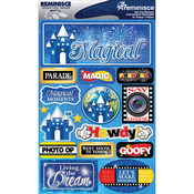 "Magical - Signature Dimensional Stickers 4.5""X6"" Sheet"