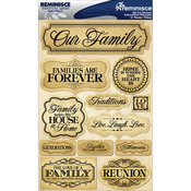 "Family - Signature Dimensional Stickers 4.5""X6"" Sheet"