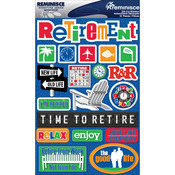 "Retirement - Signature Dimensional Stickers 4.5""X6"" Sheet"