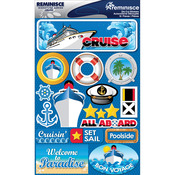 "Cruise - Signature Dimensional Stickers 4.5""X6"" Sheet"