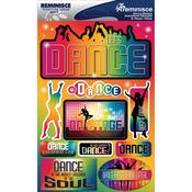 "Dance - Signature Dimensional Stickers 4.5""X6"" Sheet"