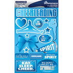 "Cheerleading - Signature Dimensional Stickers 4.5""X6"" Sheet"