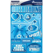 "Cheerleading - Signature Dimensional Stickers 4.5""X6"" Sheet"