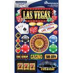 "Las Vegas - Signature Dimensional Stickers 4.5""X6"" Sheet"