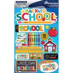 "Back To School - Signature Dimensional Stickers 4.5""X6"" Sheet"