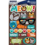 "Cat - Signature Dimensional Stickers 4.5""X6"" Sheet"