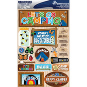 "Summer Camp - Signature Dimensional Stickers 4.5""X6"" Sheet"