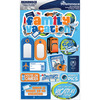 "Family Vacation - Signature Dimensional Stickers 4.5""X6"" Sheet"