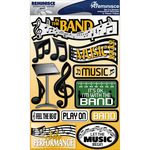 "Band - Signature Dimensional Stickers 4.5""X6"" Sheet"