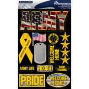 "Army - Signature Dimensional Stickers 4.5""X6"" Sheet"
