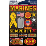 "Marines - Signature Dimensional Stickers 4.5""X6"" Sheet"