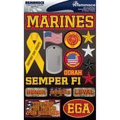 "Marines - Signature Dimensional Stickers 4.5""X6"" Sheet"