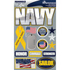"""Navy - Signature Dimensional Stickers 4.5""""X6"""" Sheet"""