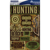 "Hunting - Signature Dimensional Stickers 4.5""X6"" Sheet"