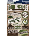 "Fishing - Signature Dimensional Stickers 4.5""X6"" Sheet"