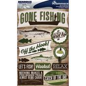 "Fishing - Signature Dimensional Stickers 4.5""X6"" Sheet"