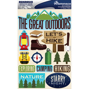 "Great Outdoors - Signature Dimensional Stickers 4.5""X6"" Sheet"