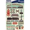 "Train - Signature Dimensional Stickers 4.5""X6"" Sheet"