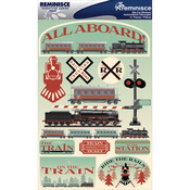 "Train - Signature Dimensional Stickers 4.5""X6"" Sheet"