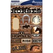"Horses - Signature Dimensional Stickers 4.5""X6"" Sheet"