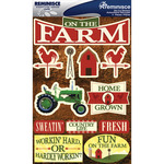 "Farm - Signature Dimensional Stickers 4.5""X6"" Sheet"