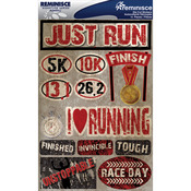 "Running - Signature Dimensional Stickers 4.5""X6"" Sheet"