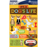 """Dog - Signature Dimensional Stickers 4.5""""X6"""" Sheet"""