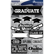 "Graduation - Signature Dimensional Stickers 4.5""X6"" Sheet"