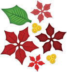 Layered Poinsettia Shapeabilities Dies - Spellbinders