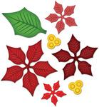 Layered Poinsettia Shapeabilities Dies - Spellbinders