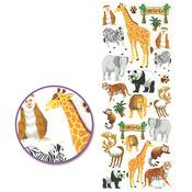 Zoo Bound - Glitter Stickers