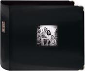 "Black - Sewn Leatherette 3-Ring Binder 12""X12"""