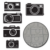 Picture Perfect Cameras - White - Transparencies Die-Cuts 15/Pkg