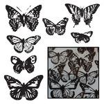 Vintage Butterflies - Black - Transparencies Die-Cuts 14/Pkg