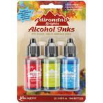 Adirondack Brights Alcohol Ink .5oz 3/Pkg - Dockside Picnic - Watermln/Citrus/Sa