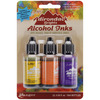 Adirondack Brights Alcohol Ink .5oz 3/Pkg - Summit View - Sunshine/Sunset/Pure T