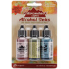 Adirondack Lights Alcohol Ink .5oz 3/Pkg - Countryside - Shell Pnk/Willow/Cloudy
