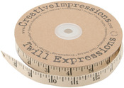 "Antique Ruler .5"" - Printed Twill 25yd"