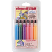 Pastel .5oz - 3D Crystal Lacquer Color Pens 6/Pkg
