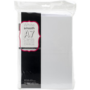 "White - A7 Cards & Envelopes (5""X7"") 50/Pkg"
