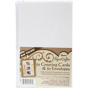"White - Cards & Envelopes 4""X5"" 50/Pkg"