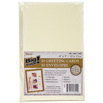 "Ivory - Cards & Envelopes 4""X5"" 50/Pkg"