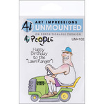 The Lawn Ranger Set - Art Impressions People Cling Rubber Stamps
