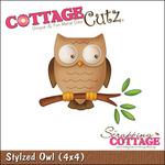 Stylized Owl With Foam Die - CottageCutz