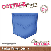 Peeker Pocket Made Easy Foam Die - CottageCutz